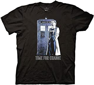 Ripple Junction Doctor Who Adult Unisex 13th Doctor Time to Change Light Weight 100% Cotton Crew T-Shirt