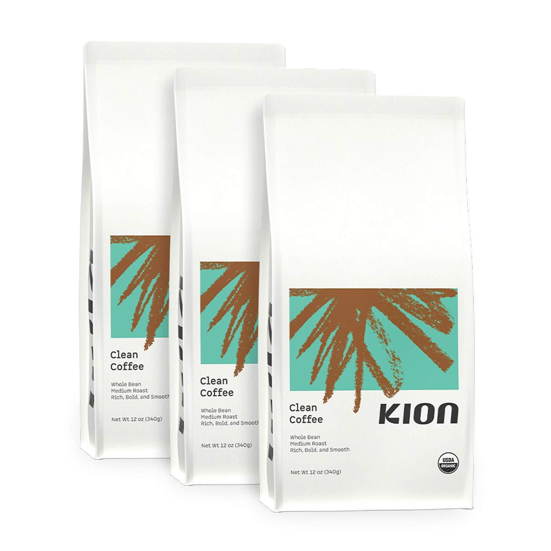 Kion Organic Coffee   Toxin and Mold Free   Roasted to Maximize Health and Taste   Medium Roast 12 Oz (3 Pack)