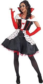 Womens Queen of Hearts Costume Adults Gown Short Wonderland Dress