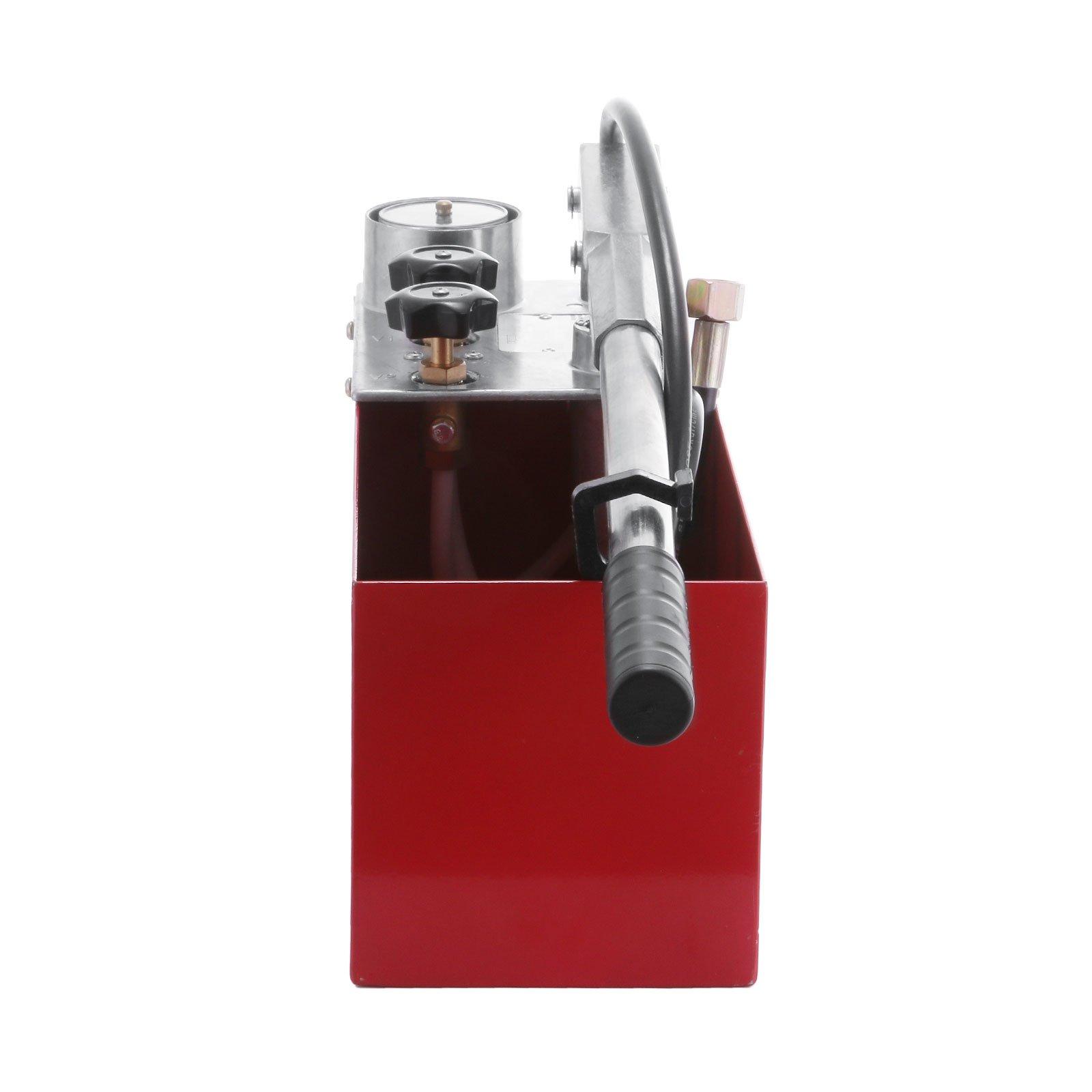 "VEVOR Hydraulic Pressure Test Pump 50 Bar Hand Pressure Test Pump 726 PSI 3 Gallon Tank 45ML 1/2"" BSP Hydrostatic Test Pump for Pipeline Pressure Container Irrigation Firemen (Test Pump 50 Bar)"
