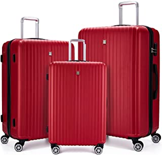 3 Piece Luggage sets Lightweight Durable Spinner Suitcase 20in24in28in