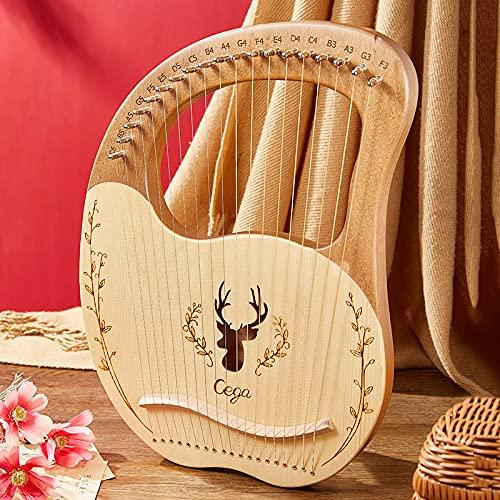 Tyfiner Arpa De Lira 19 Cuerdas Caoba Arpa Pequeña Portátil Adecuado para Principiantes, Regalos para Amantes de la Música,002,19 Strings