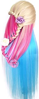 Cosmetology Mannequin Manikin Heads with Hair, Colorful Mannequin Practice Dolls Head- Synthetic Hair (Blonde Series)