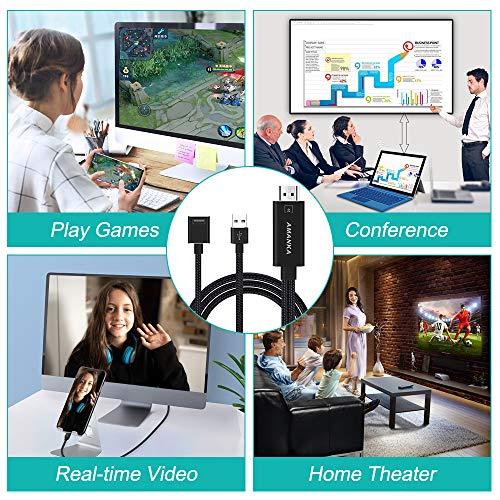AMANKA Telefon zu HDMI Kabel Adapter, 3 in 1 1080P Full HD Micro USB/USB C/Telefon auf HDMI Kabel Konverter, Kompatibel mit Verschiedenen Smartphones/HDTV/Projektoren usw