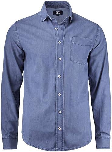 Cutter & Buck Ellensburg Denim Shirt, Taille L, Couleur Denim bleu