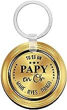 Porte clés à personnaliser avec prénons PAPY en or - cadeau personnalisé papy - porte clé papy - idée cadeau fête des gran...