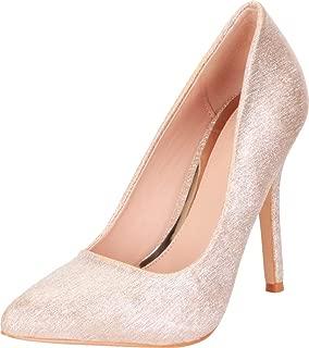 Cambridge Select Women's Pointed Toe Slip-On Stiletto High Heel Pump