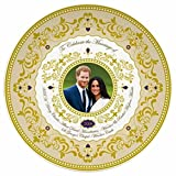 """H.R.H. Prince Harry & Meghan Markle Royal Wedding 19th May 2018 Commemorative Fine China 6""""/15cm Plate"""