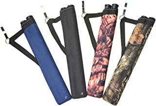 AMEYXGS 2-Tubes Hunting Archery Quiver Arrow Quiver Bag Tube Arrow Quiver with Shoulder Strap for Arrow Carrier Tube Back Use