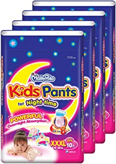 MamyPoko Kids Pants Girl, XXXL, 10 Count, (Pack of 4)