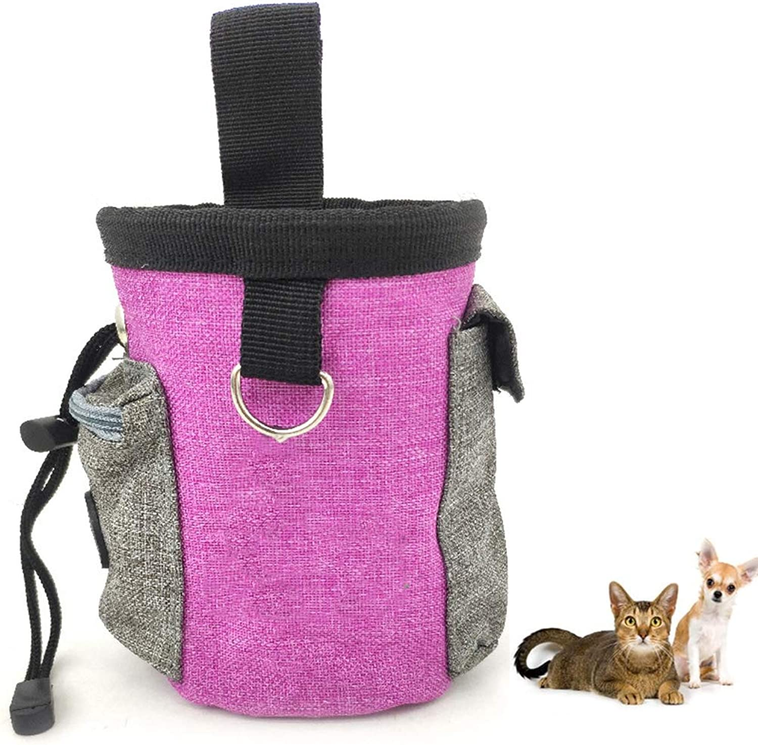 Portable Detachable Doggie Pet Feed Pocket Pouch Pet Dog Treat Pouch Dog Training Treat Bags Puppy Snack Reward Waist Bag, Resistant to Dirt and Easy to Clean