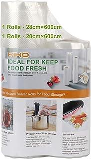 Kikc - Bolsa al vacío para envasado al vacío para olla – 2 rollos de 20 x 600 cm y 28 x 600 cm, rollo de envasado al vacío...