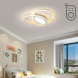 Plafón LED infantil Lámpara de dormitorio regulable Lámpara de techo de diseño con forma de mariposa blanca Luz moderna para Niños Niña Ring decoración Iluminación 42W