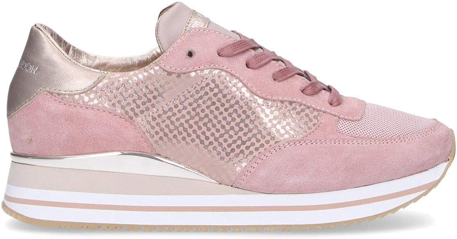 Crime London Women's 25501R Pink Leather Sneakers