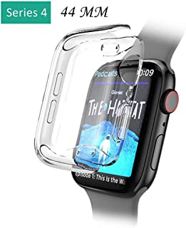 BabiQ for Apple Watch Series 4 Case Cover, Soft Ultra-Slim Clear TPU Protect Case Cover for Apple Watch Series 4