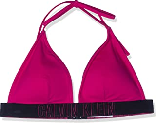 Calvin Klein Fixed Triangle Bikini Top X Small Beetroot Purple