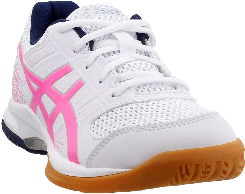 ASICS Gel Rocket 8 Womens Indoor Court shoes (White Hot Pink)