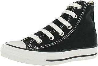 حذاء رياضي اول ستار بتصميم يوث اس قماشي عالي الرقبة من كونفيرس للاطفال من الجنسين، لون اسود