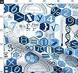 Blau Und Weiß, Mathe, Wissenschaft, 50Er Jahre, Vintage,