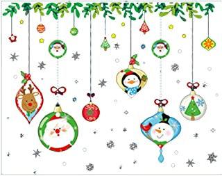 Gijoki Christmas Decoration Wall Sticker Glass Window Sticker Wall Stickers