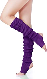 V28 Women's Neon Leg Warmer, Juniors Knit 80s Eighty's Party Dance Sports Yoga Legwarmers