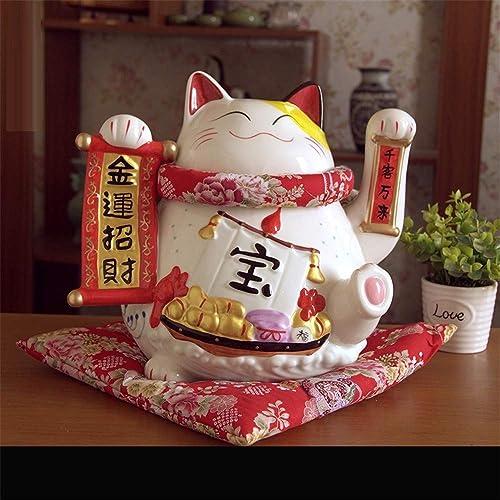 Glückliche Katze Ornamente Gold Größe Keramik Japan Spaßen Geld SpaßschWeißHause Shop Er nung kreative Geschenke, K