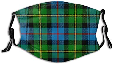 Hopewi Fashion Unisex Cloth Mask with Carbon Filter Breathable and Reusable Macleod of Skye Tartan,Face Protect Cover Bandana for Outdoors Sports