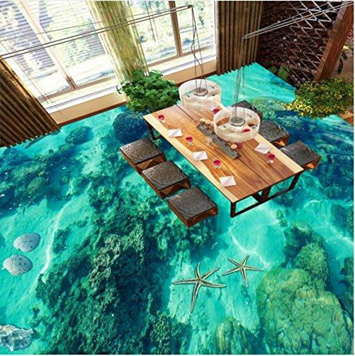 Mznm Seashells wc stoelen badkamer restaurant winkelcentrum Aisle hal waterdichte vloer behang muurschildering 200x140cm