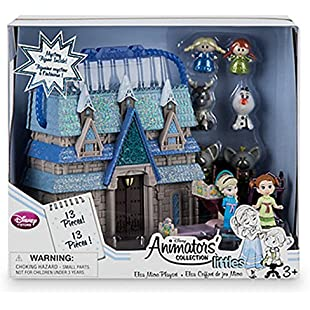 Official Disney Elsa Micro Playset, Disney Animators' Collection Littles:Tudosobrediabetes