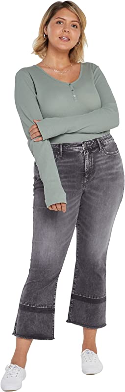 Plus Size Fiona Slim Flared Ankle Jeans in Nobelle