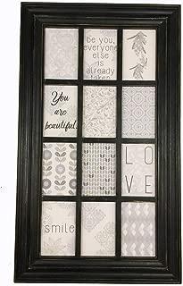 Melannco 12 Opening Window Collage, 29x17 inch, Dark Brown - 5226177
