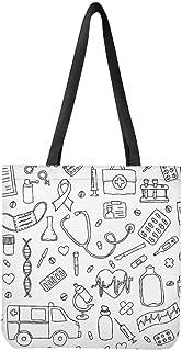 Woisttop, borsa in tela pieghevole per la spesa, per donne e ragazze, riciclaggio di cotone, borsa a tracolla casual (mode...