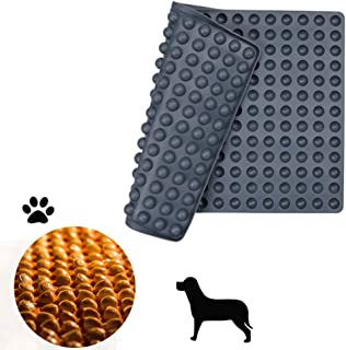 Silicone Baking Mat Cooking Sheets,Baking Molds,For Pets Non-stick, Fat Reducing Mats for Healthy Cooking 11.5× 16 in (Grey-0.6in)