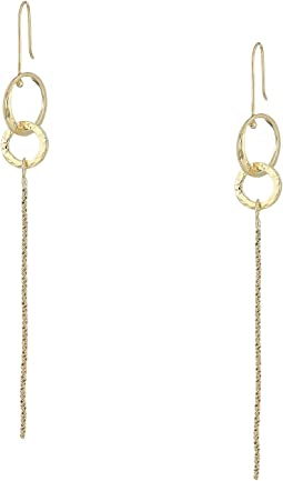 Ring and Chain Linear Earrings