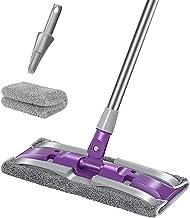 iFAN Length Adjustable Flat Floor Mop (2Pads+1Scrubber) (Purple)