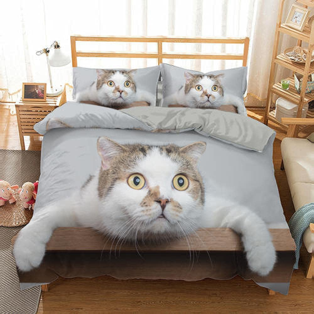 RITICKLY 3 Piece Animal cat Comforter Shams with Surprise Brand Cheap Sale Venue price Pillow Set Bedd