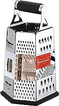 [6-côtés] Trancheuse à fromage-râpe-légumes-acier inoxydable - 9,5 pouces de hauteur, poignée en caoutchouc, fond antidérapant en caoutchouc - par Utopia Kitchen