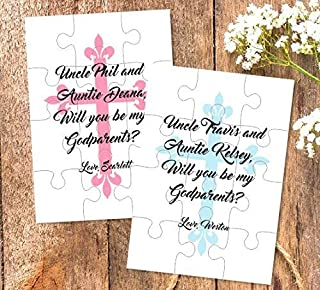 Godparents proposal Will you be my Godparents gift Godmother Godfather puzzle