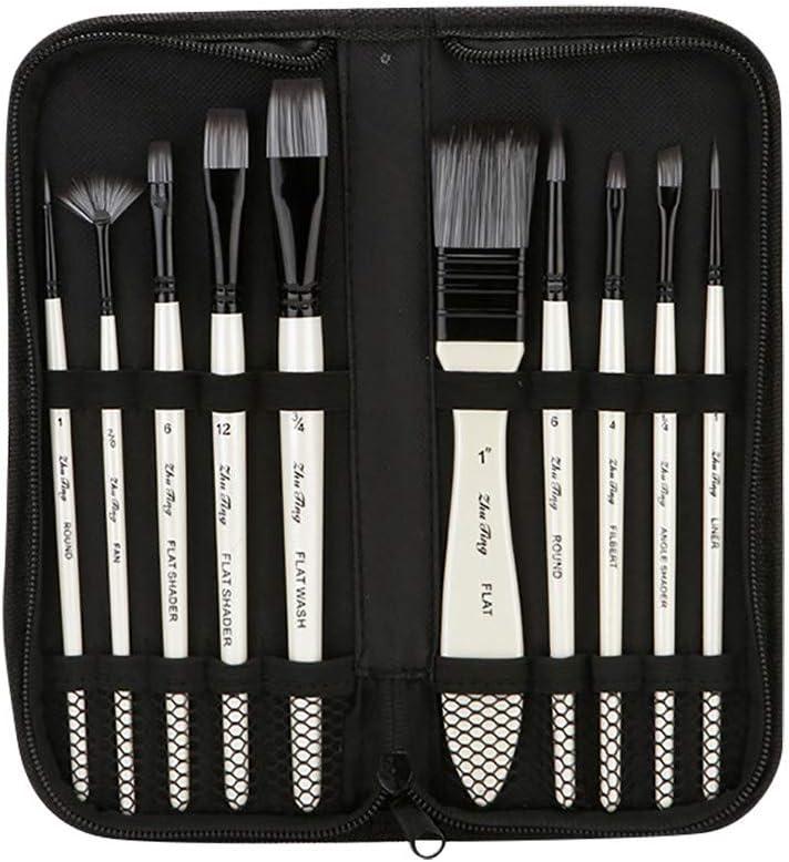 Evangelia.YM Acrylic Paintbrush Discount is also underway Set 10Pcs Kits Art Brushes Max 57% OFF Inc -