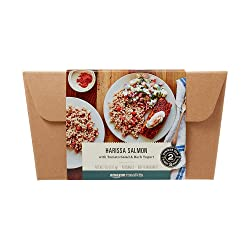 Amazon Meal Kits, Harissa Salmon with Tomato Salad & Herb Yogurt, Serves 2