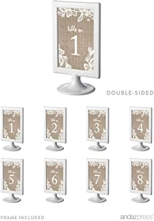 burlap table numbers for wedding
