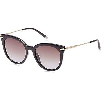Calvin Klein EYEWEAR Womens CK3206S Sunglasses, BLACK, 5318