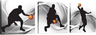 Natural Art Basketball Sports Themed Canvas Wall Art