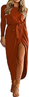 YOINS - Vestido de verano para mujer, cuello redondo, con estampado de flores, elegante, de cintura corta, minivestido par...
