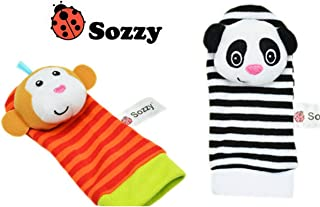Infant Toy Baby Rattles Toys Animal Sock Wrist Strap with Rattle Baby Sock Wrist Strap Cartoon Early Educational Best Gift...