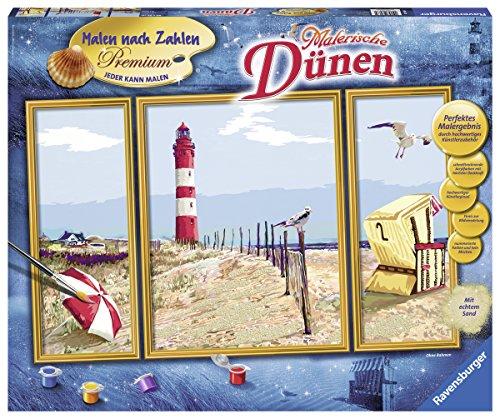 Ravensburger 28968 Malerische Dünen Malen nach Zahlen Premium Triptychon