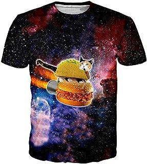 Doxi Men's Hiphop Galaxy 3D Printed T-Shirt Clothing Casual Tees Tops