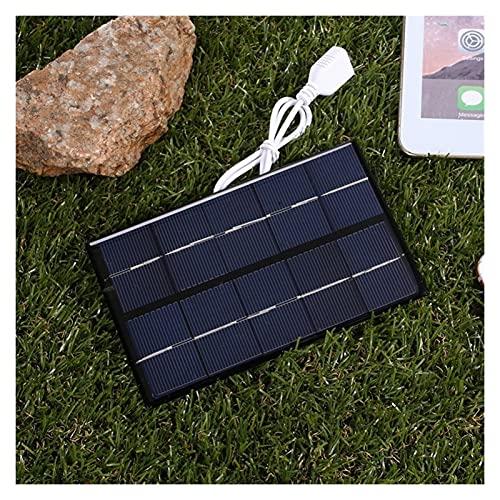 YSNUK Panel Solar USB para Exteriores, Cargador Solar Portátil De 5W Y 5V, Carga Rápida De Escalada En Panel, Generador De Carga Solar DIY De Viaje De Polisilicio