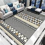 Color, Estilo étnico, patrón Retro del país, Arte Simple, Suave y cómodo, a la Cama Resistente a la Cama, Alfombra de área Interior de la cama-100x160cm Calidad Precio relación de