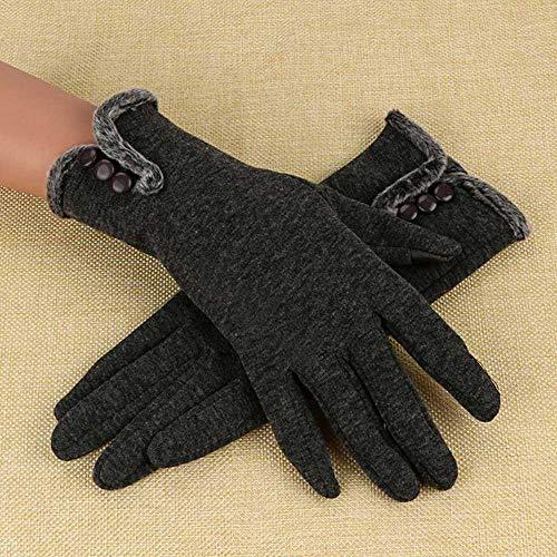 Langy Dameshandschoenen, winter warme dames, leer, waterdicht, met touchscreen